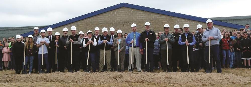 groundbreaking on gym construction project